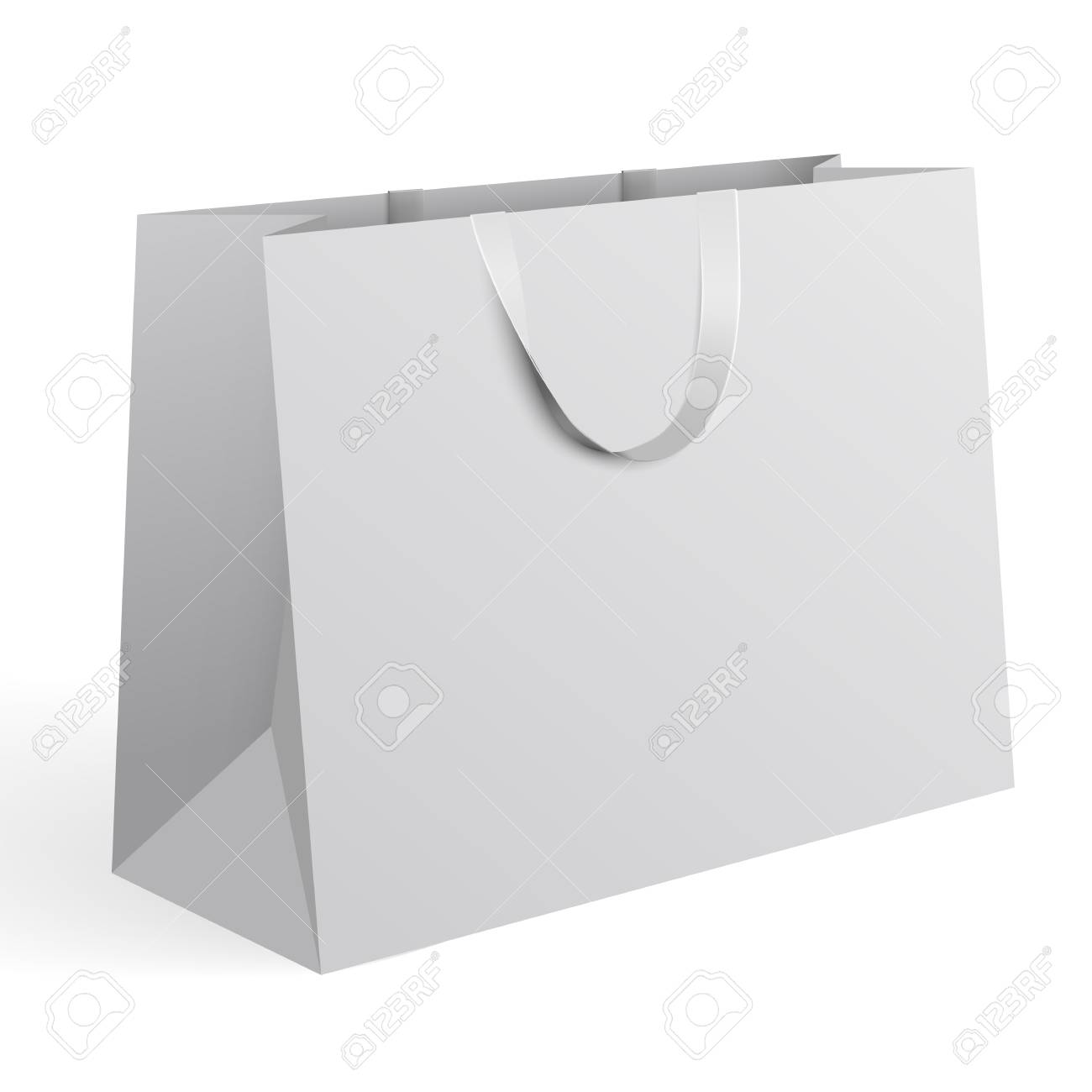 shopping bag icon in trendy style isolated background. 3d Realistic Vector Illustration Of White Paper Shopping Bag Blank Paper Bag Template Vector Royalty Free Cliparts Vectors And Stock Illustration Image 93898662