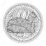 Katze Mandala Hand Gezeichnete Tier Mit Abstrakten Mustern Auf Isolierungshintergrund Fur Design Fur Spirituelle Entspannung Fur Erwachsene Druck Fur T Shirts Poster Und Poster Textilien Kunsttherapie
