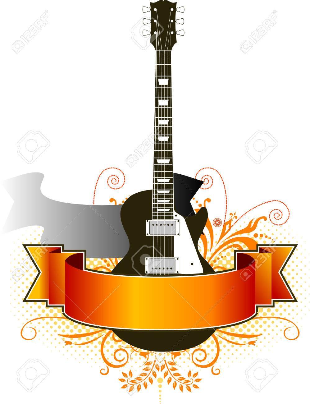 a funky grunge guitar
