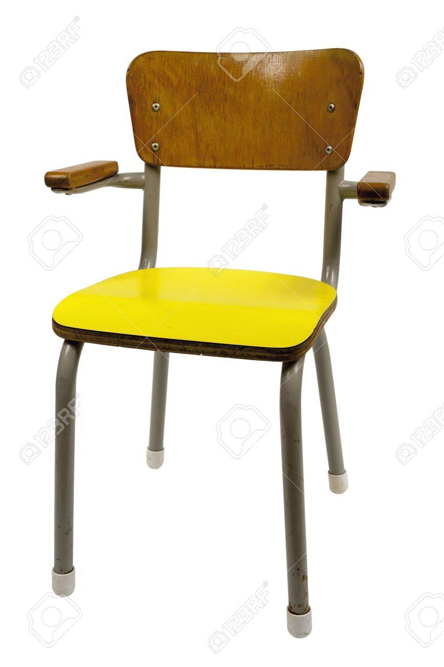 Vintage School Chairs Vintage School Chair Isolated On White