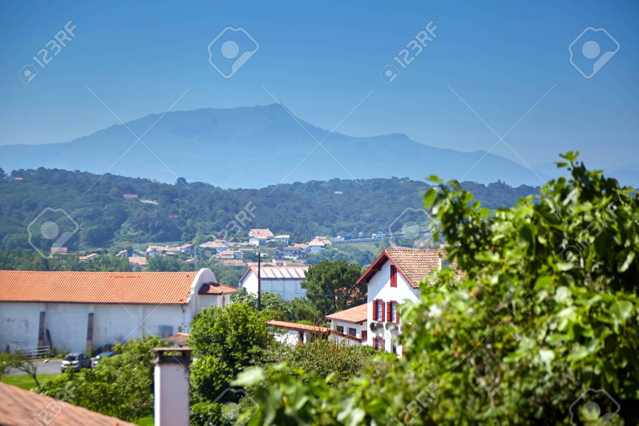 French Basque Country Landscape La Rhune Mountain Typically