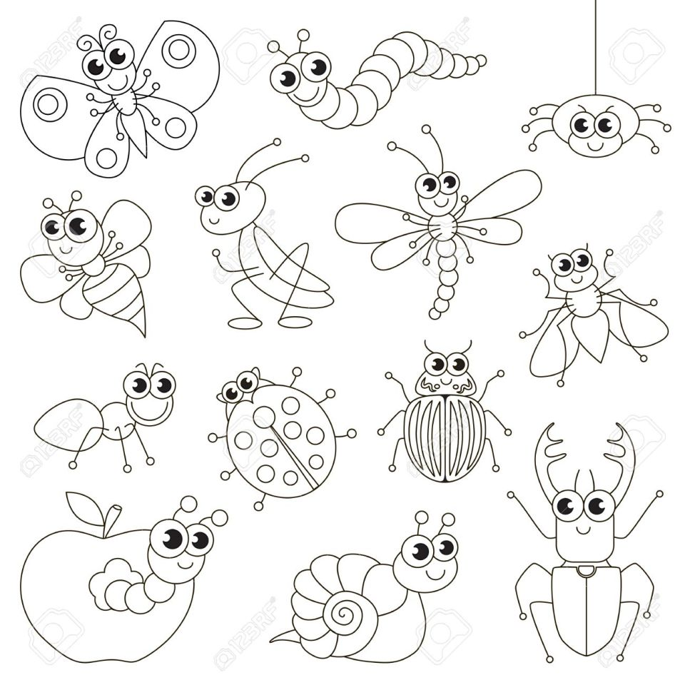 かわいい小さな虫は、レベルが簡単な教育ゲーム就学前の子供のための