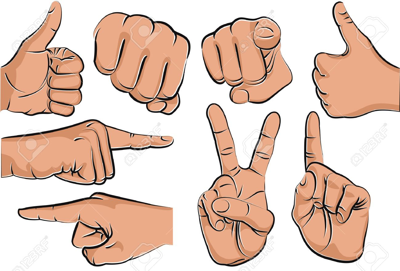 collection of hand gestures