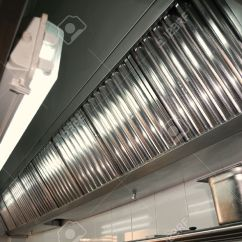 Kitchen Hood Filters 33 X 19 Sink Exhaust Systems Detail In A Professional Stock Photo 13632948