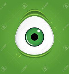 big green monster eye stock vector 48981814 [ 1300 x 1300 Pixel ]