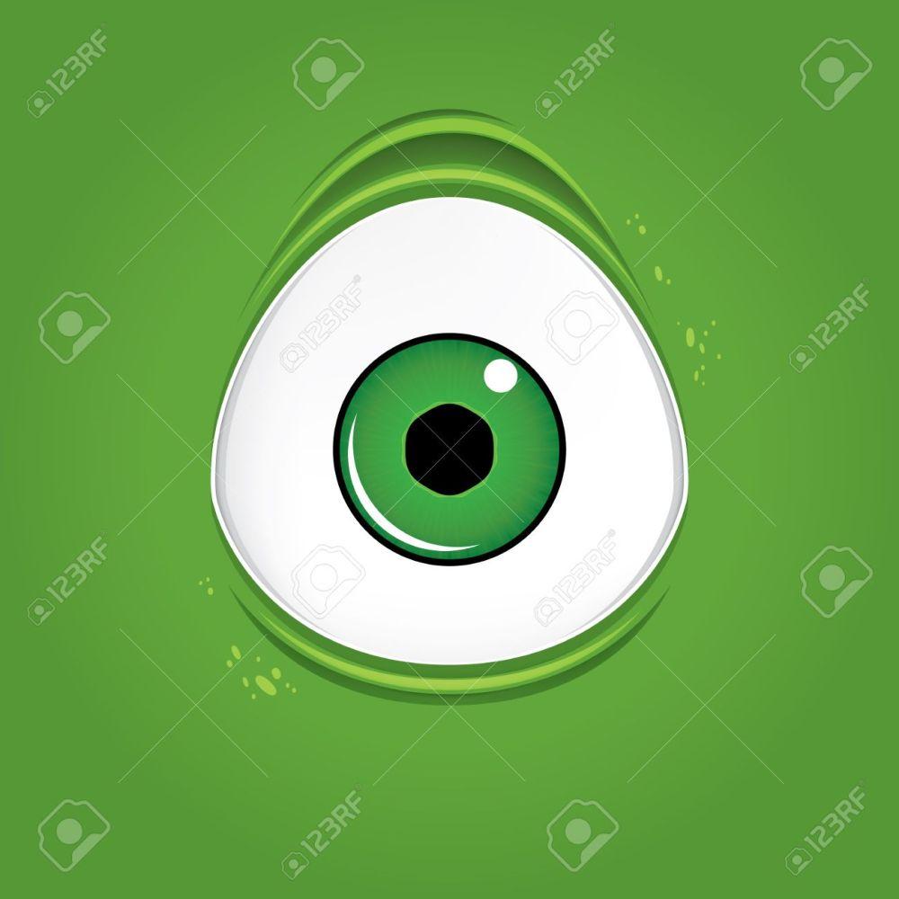 medium resolution of big green monster eye stock vector 48981814