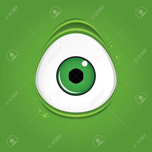 small resolution of big green monster eye stock vector 48981814