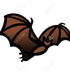 simple drawing illustration clipart of a bat in flight great halloween symbol stock illustration  [ 1300 x 947 Pixel ]