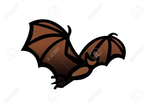 small resolution of simple drawing illustration clipart of a bat in flight great halloween symbol stock illustration