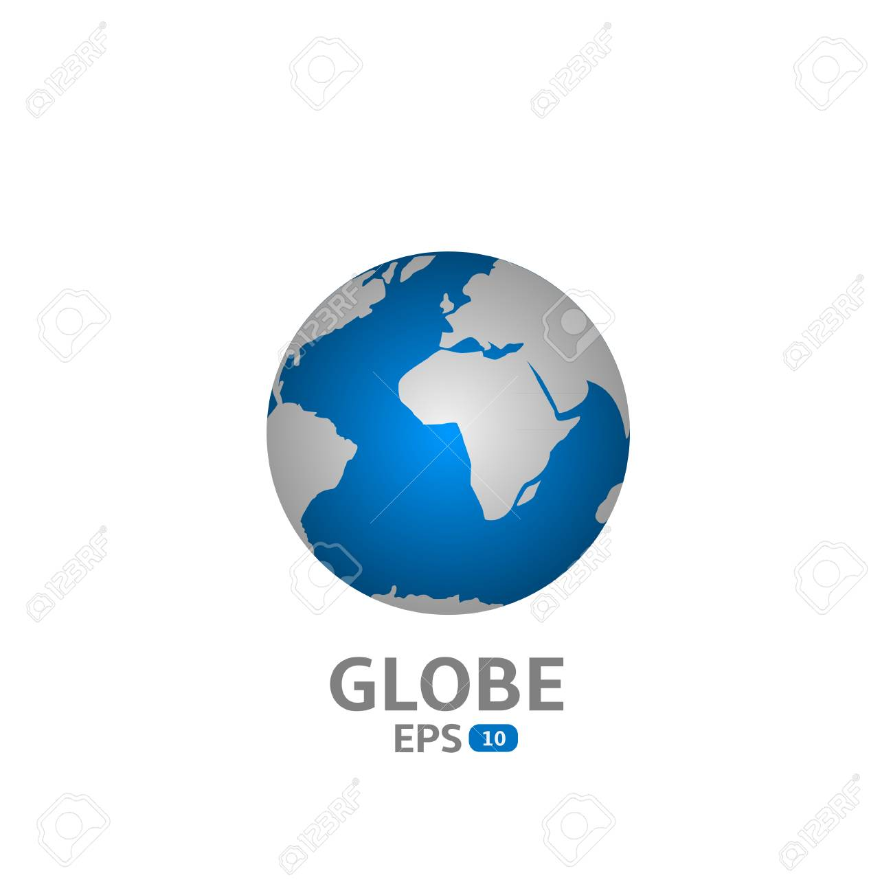 world map blue globe