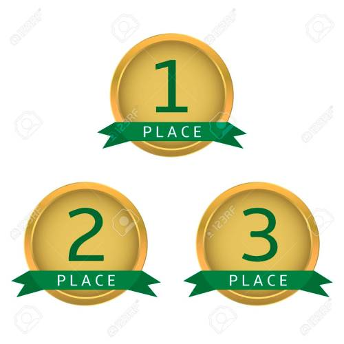 small resolution of first place second place third place golden labels with