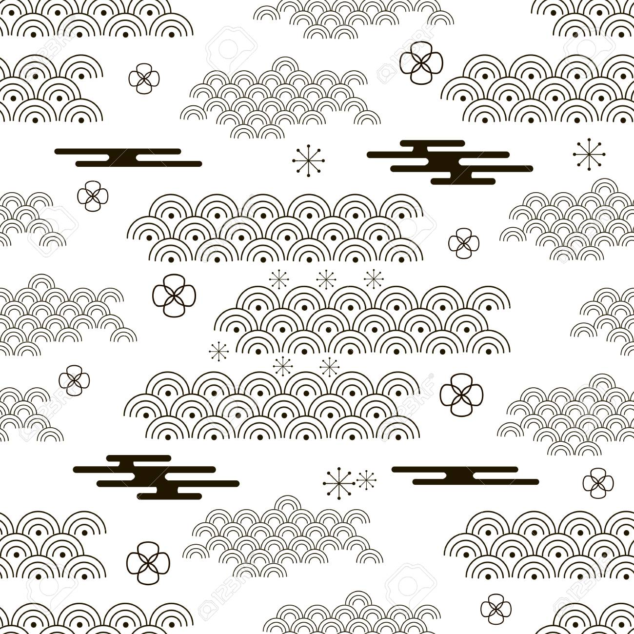decorative seamless pattern with