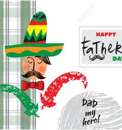 happy father s day beautiful greeting card in cartoon style label tags card [ 1300 x 974 Pixel ]