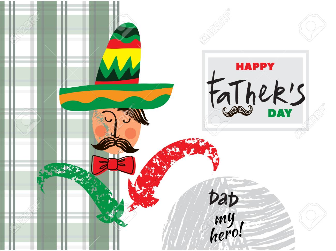 hight resolution of happy father s day beautiful greeting card in cartoon style label tags card