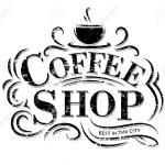 Logotipo Retro Cafe Vintage Con Letras Etiqueta De Cafeteria Con Adornos De Flores Ilustraciones Vectoriales Clip Art Vectorizado Libre De Derechos Image 90782787