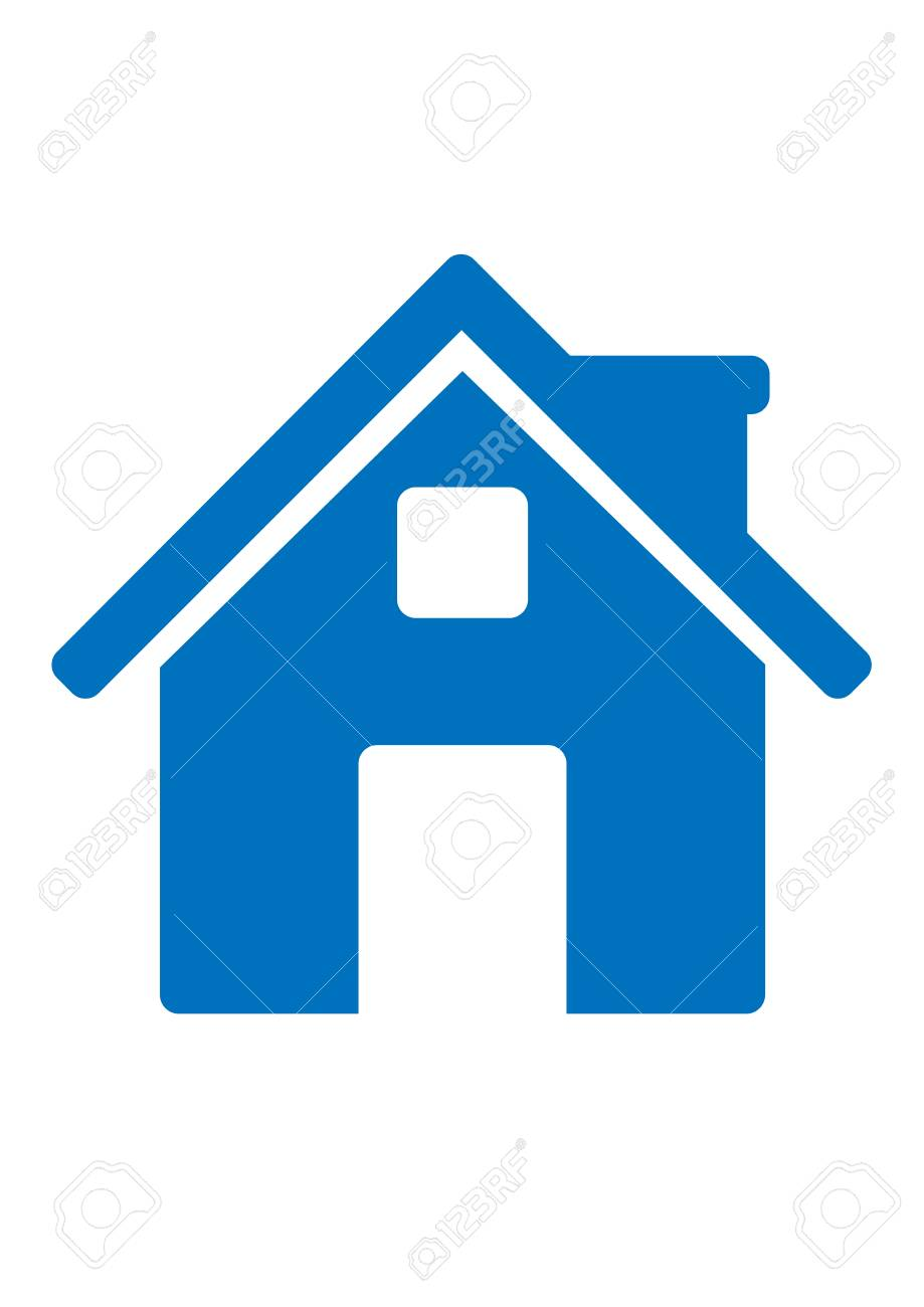 Blue Home Icon : Royalty, Cliparts,, Vectors,, Stock, Illustration., Image, 84818102.
