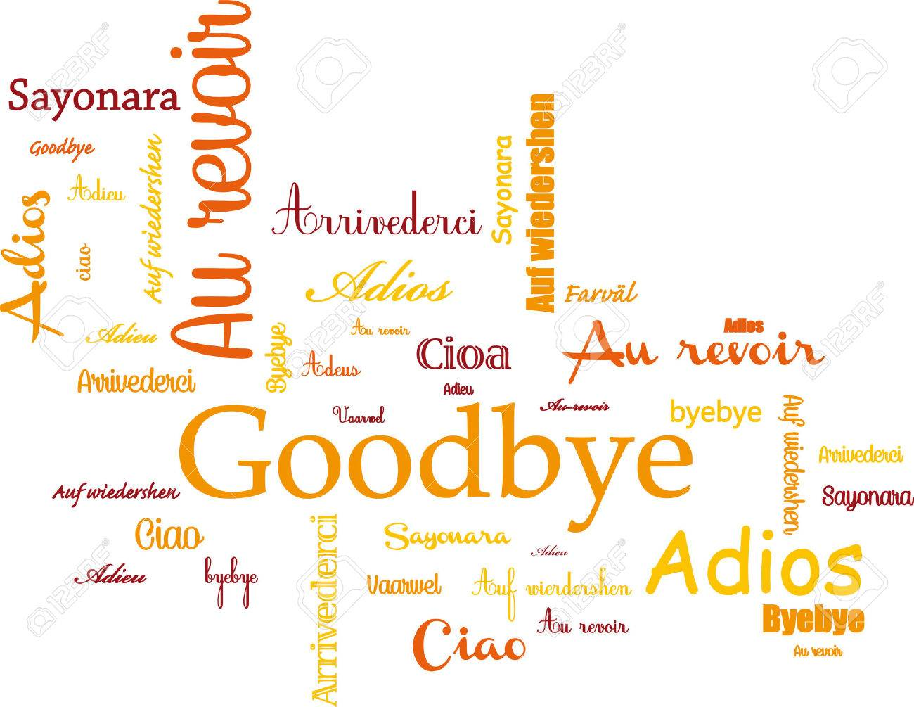 hight resolution of goodbye