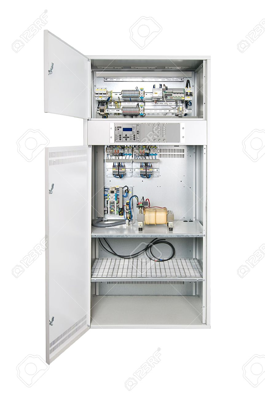 medium resolution of electrical enclosure with its door open could be electrical circuit breaker fuse box