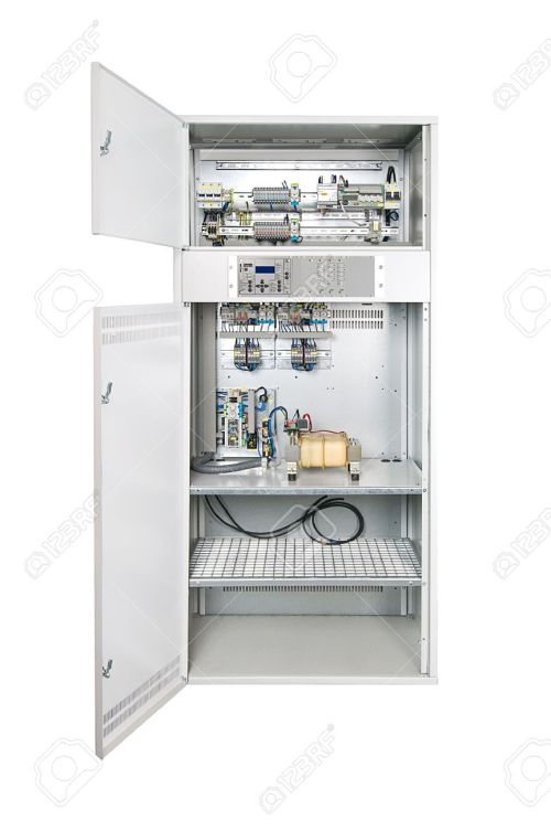 small resolution of electrical enclosure with its door open could be electrical circuit breaker fuse box