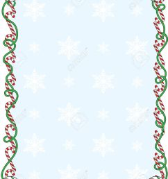 a border or frame with candy canes and ribbons stock vector 5799892 [ 1005 x 1300 Pixel ]