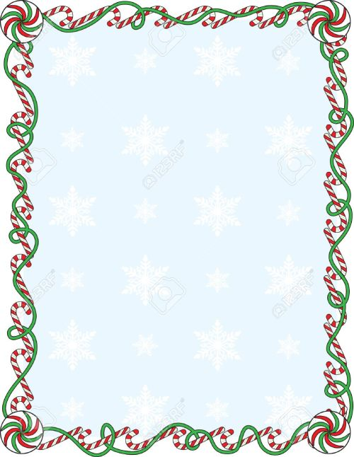 small resolution of a border or frame with candy canes and ribbons stock vector 5799892