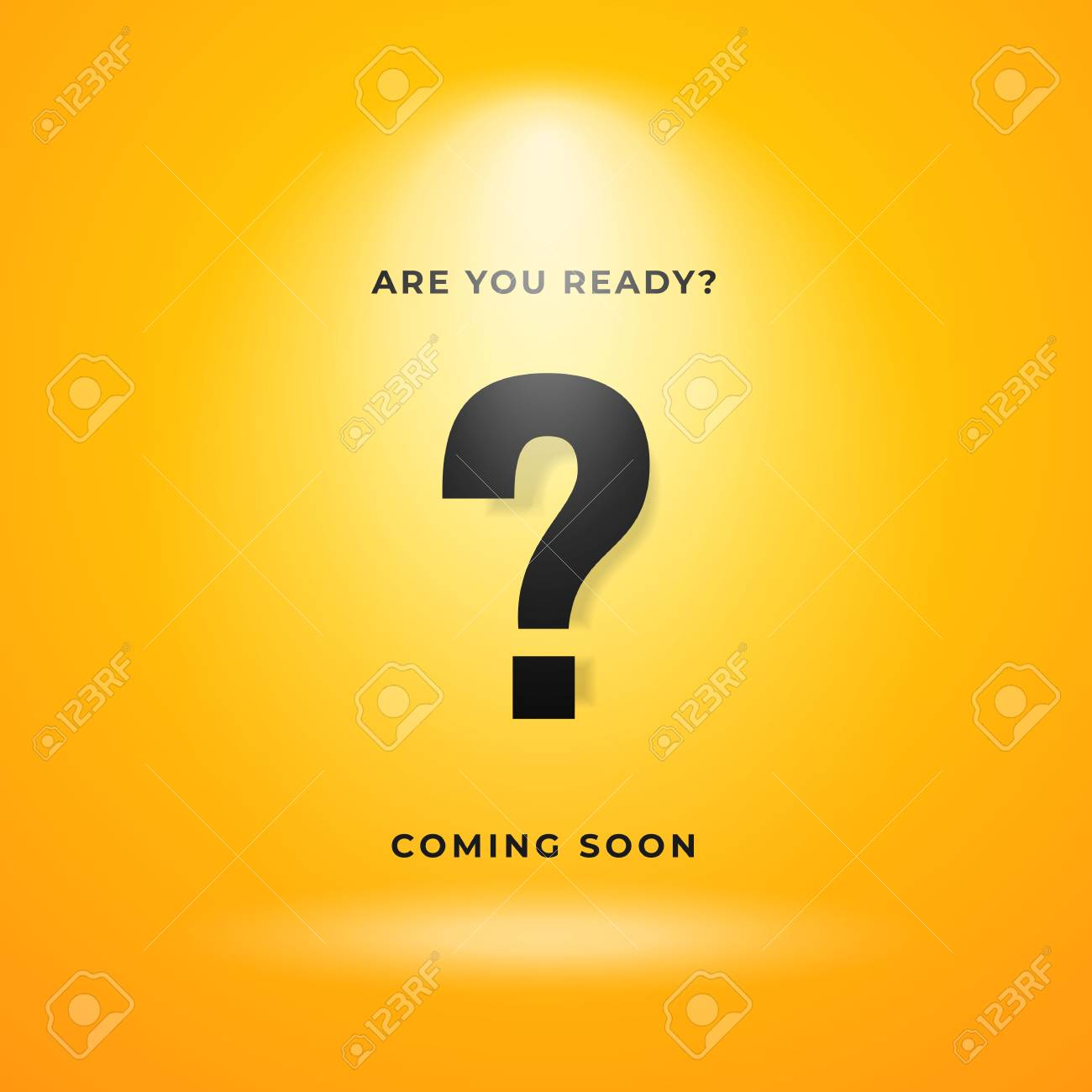 mystery item coming soon poster background yellow backdrop with