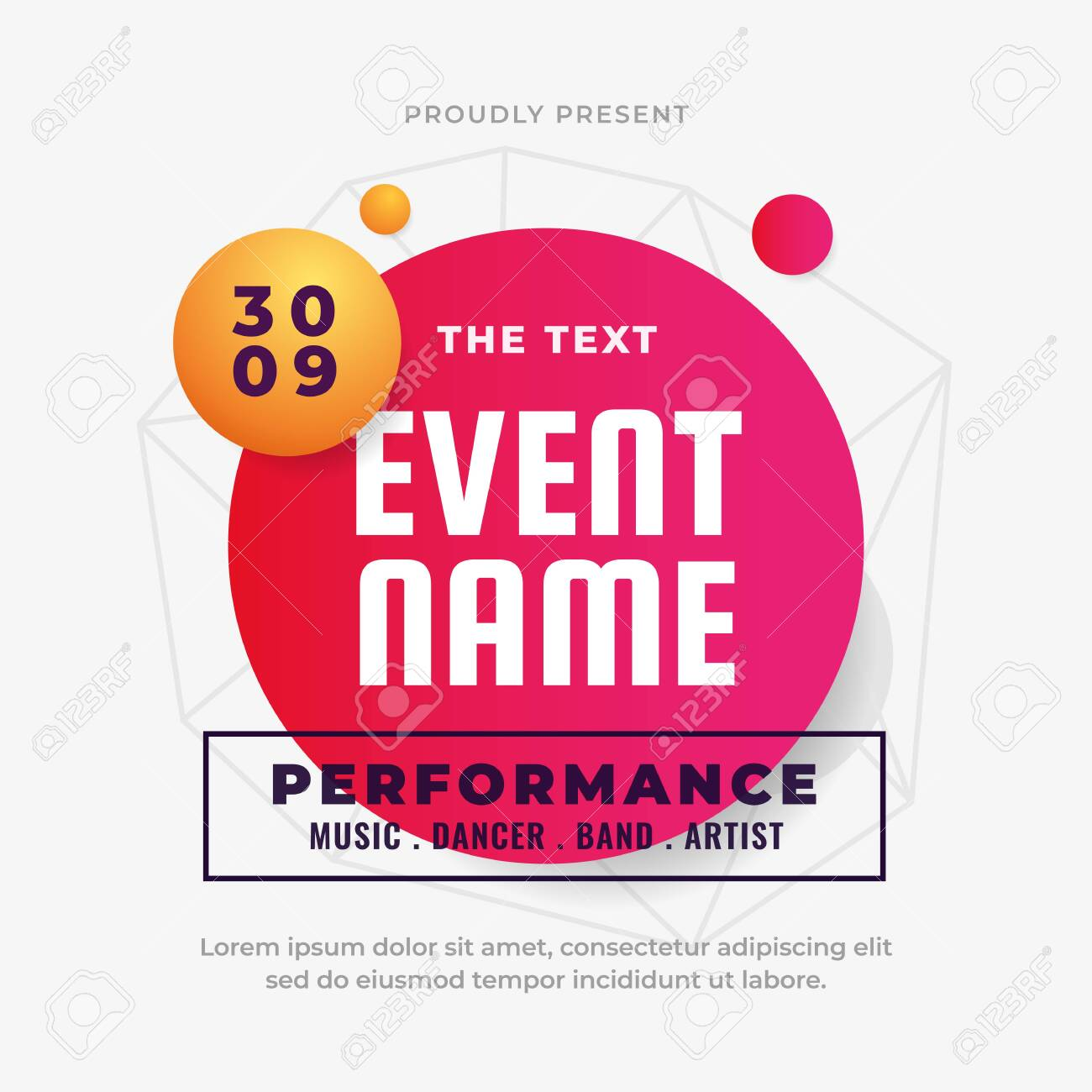 modern colorful fluid coming soon event poster background design