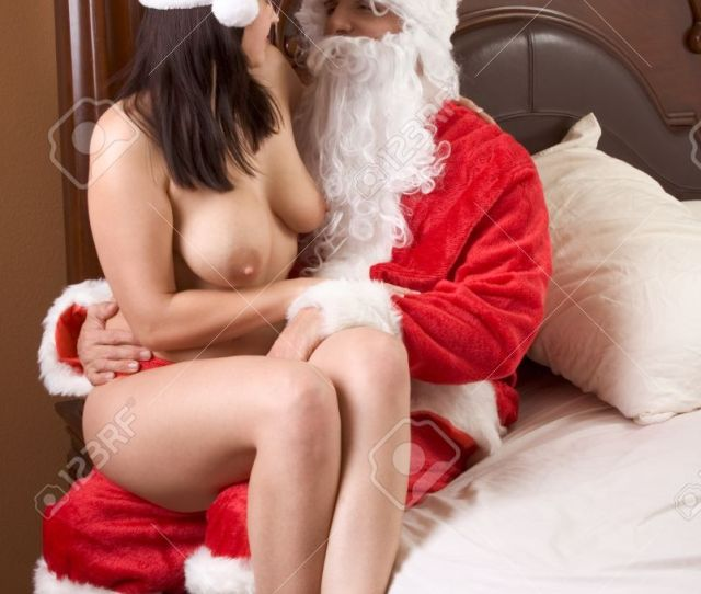 Stock Photo Young Sexy Woman Having Sex With Santa Claus