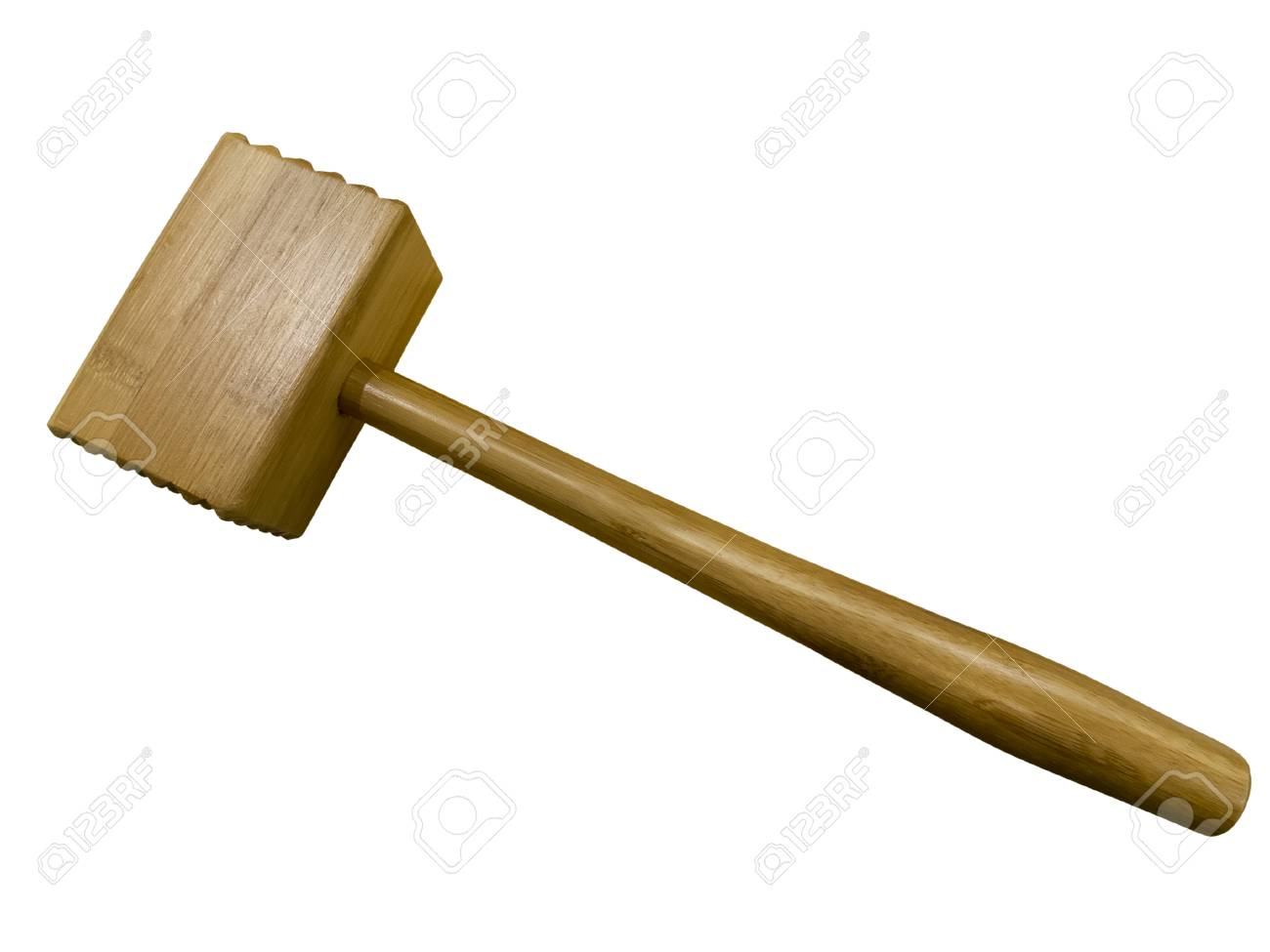wooden meat mallet isolated