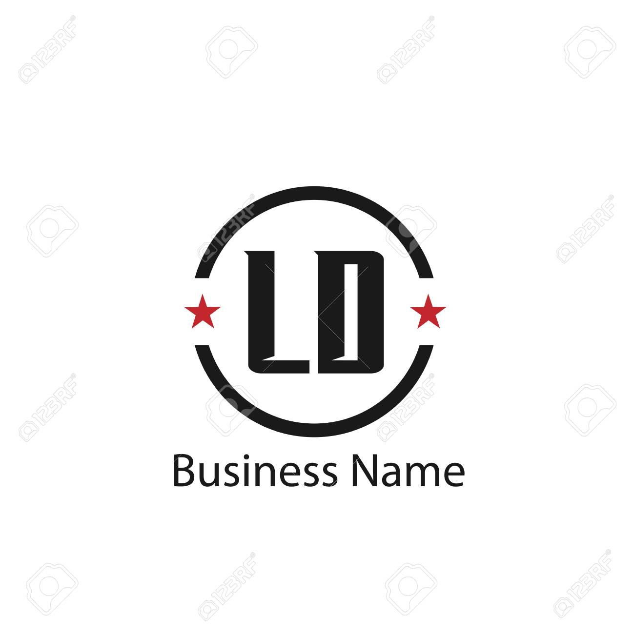 hight resolution of initial letter ld logo template design stock vector 108065020