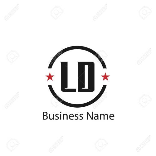 small resolution of initial letter ld logo template design stock vector 108065020