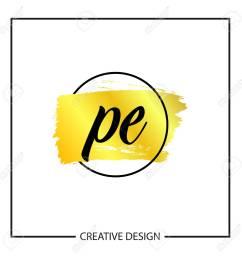 initial letter pe logo template design stock vector 112579962 [ 1300 x 1300 Pixel ]
