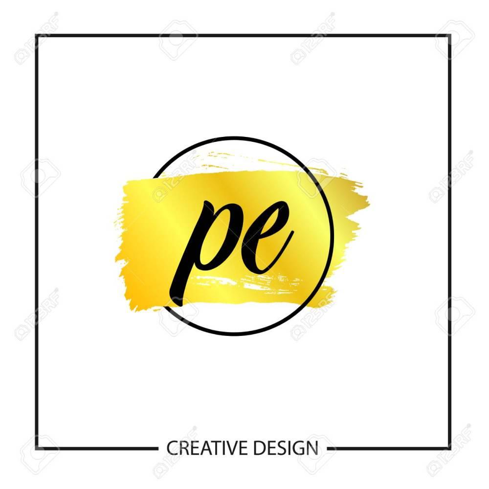 medium resolution of initial letter pe logo template design stock vector 112579962
