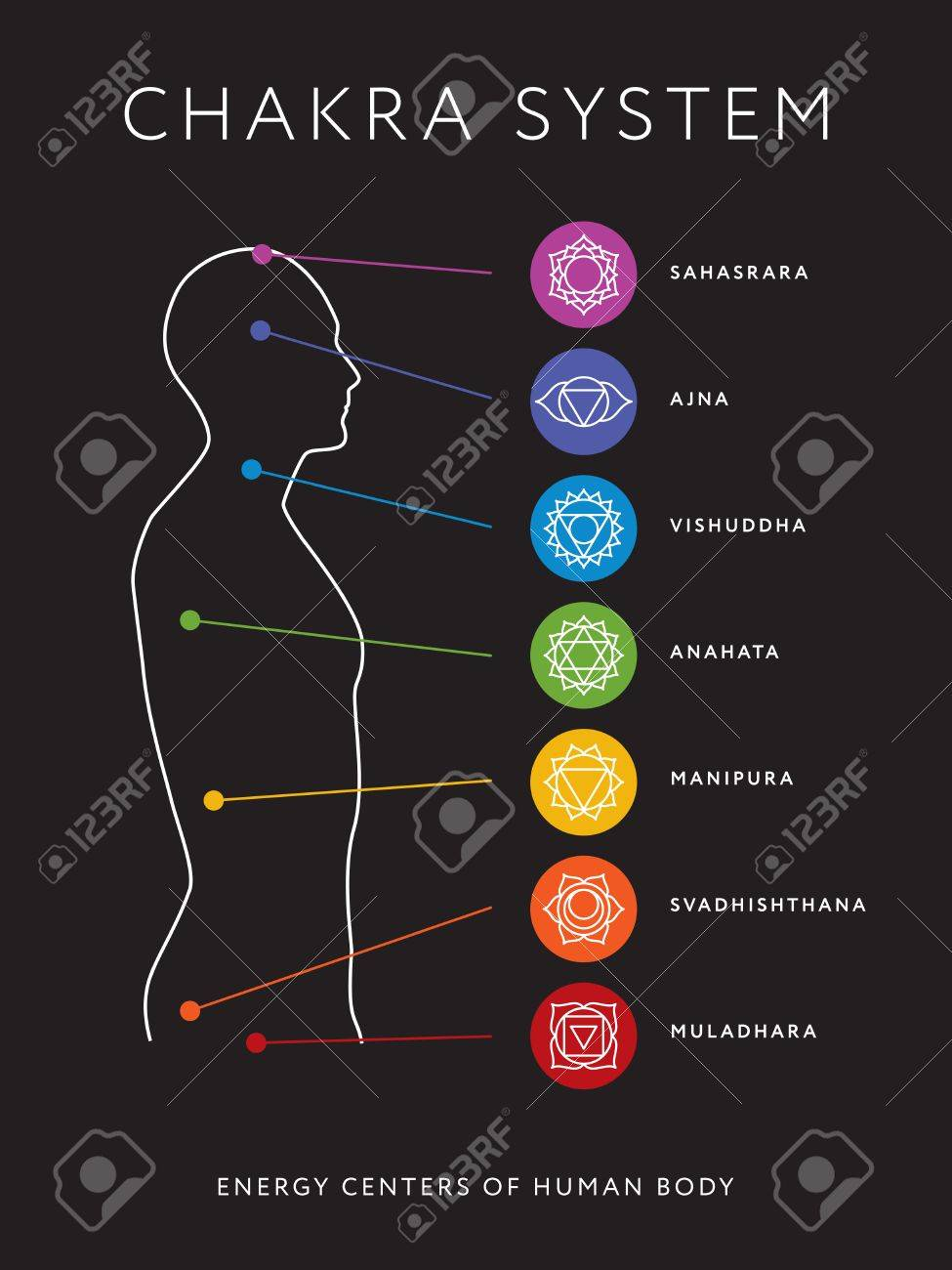 hight resolution of chakra system of human body chart seven chakra symbols location information of each chakra