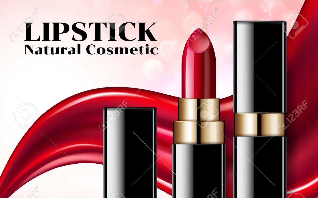 glamorous fashion lipstick ads