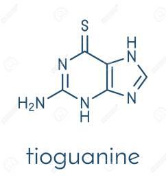 tioguanine leukemia and ulcerative colitis drug molecule skeletal formula stock vector 91297712 [ 1273 x 1300 Pixel ]