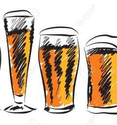 beer glasses illustration stock vector 19161706 [ 1300 x 827 Pixel ]