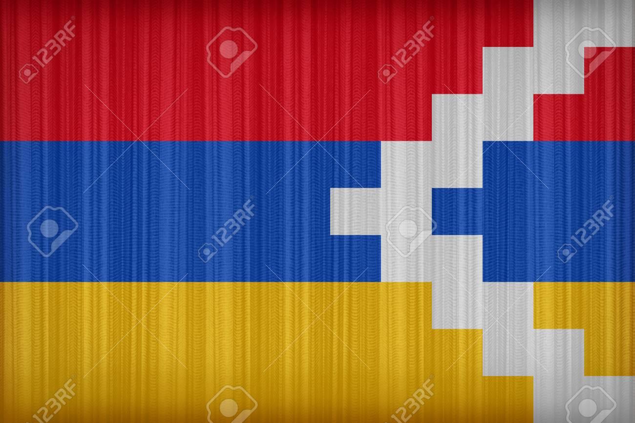 nagorno karabakh flag pattern