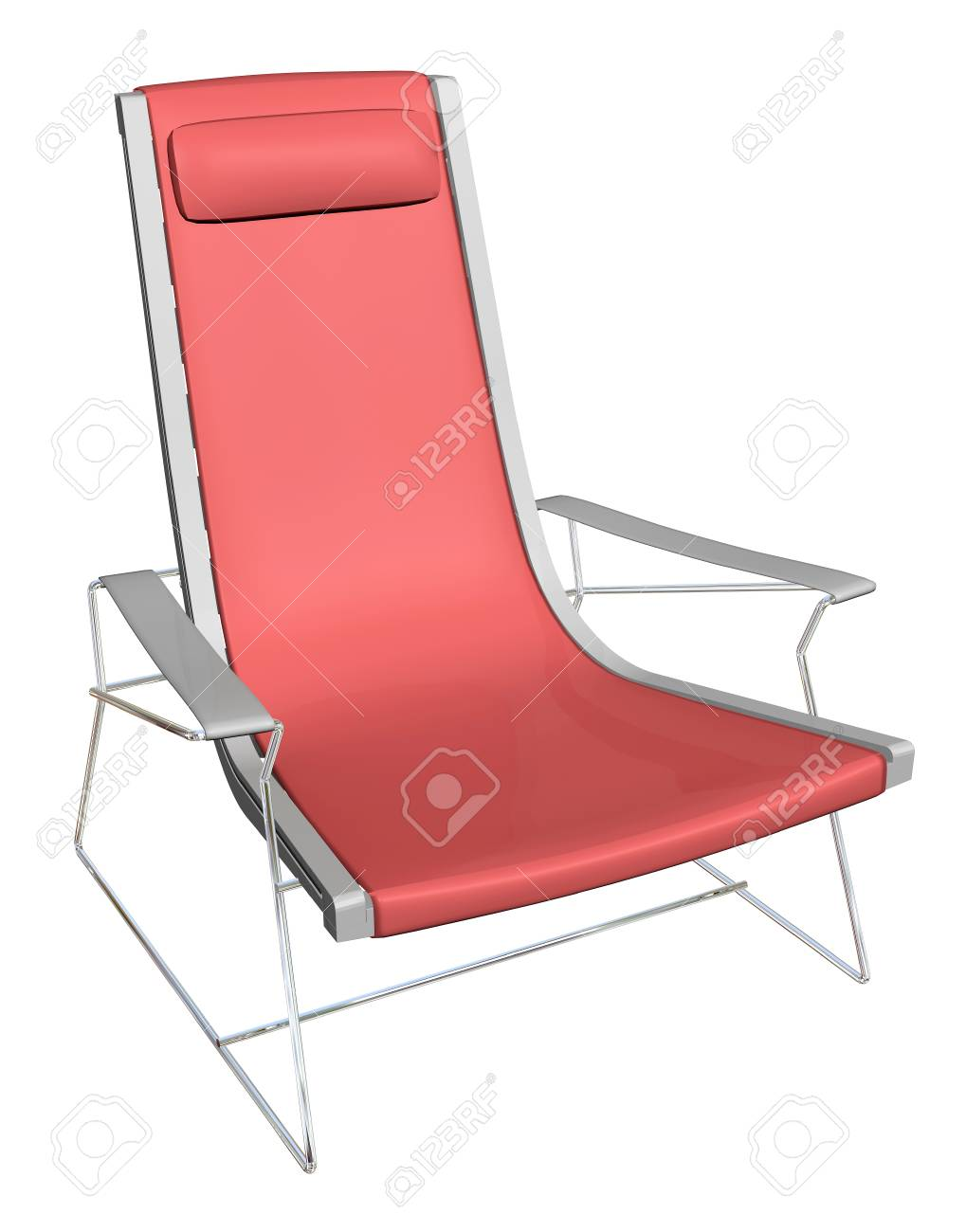 Plastic Lounge Chair Stock Illustration
