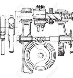 farcot servo winch vintage engraved illustration industrial encyclopedia e o lami [ 1300 x 899 Pixel ]