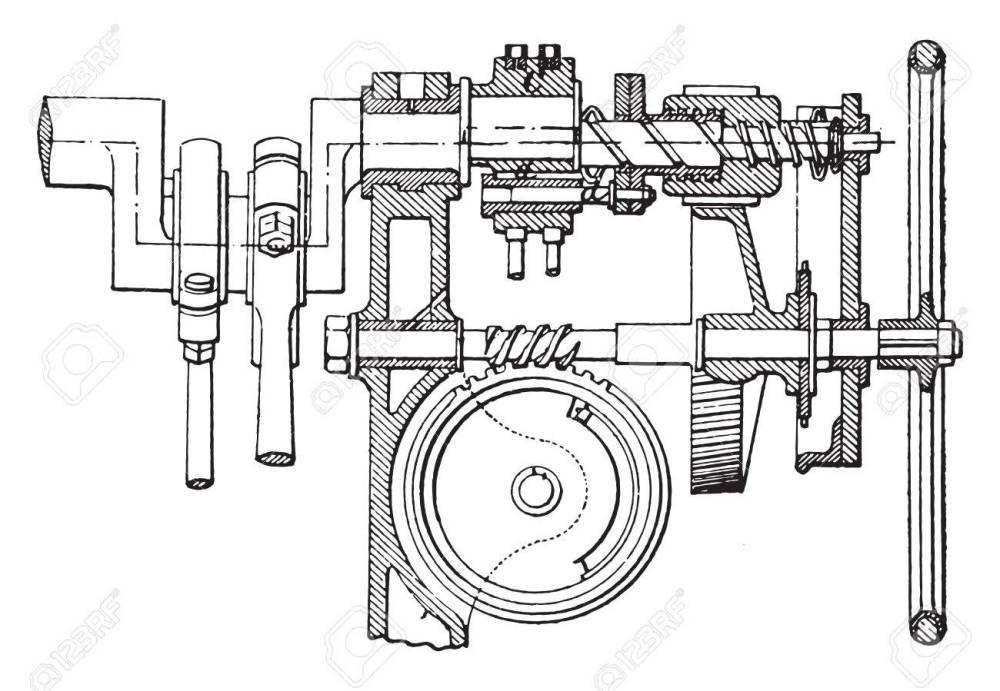 medium resolution of farcot servo winch vintage engraved illustration industrial encyclopedia e o lami