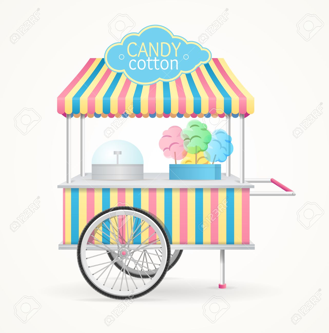 cotton candy street market