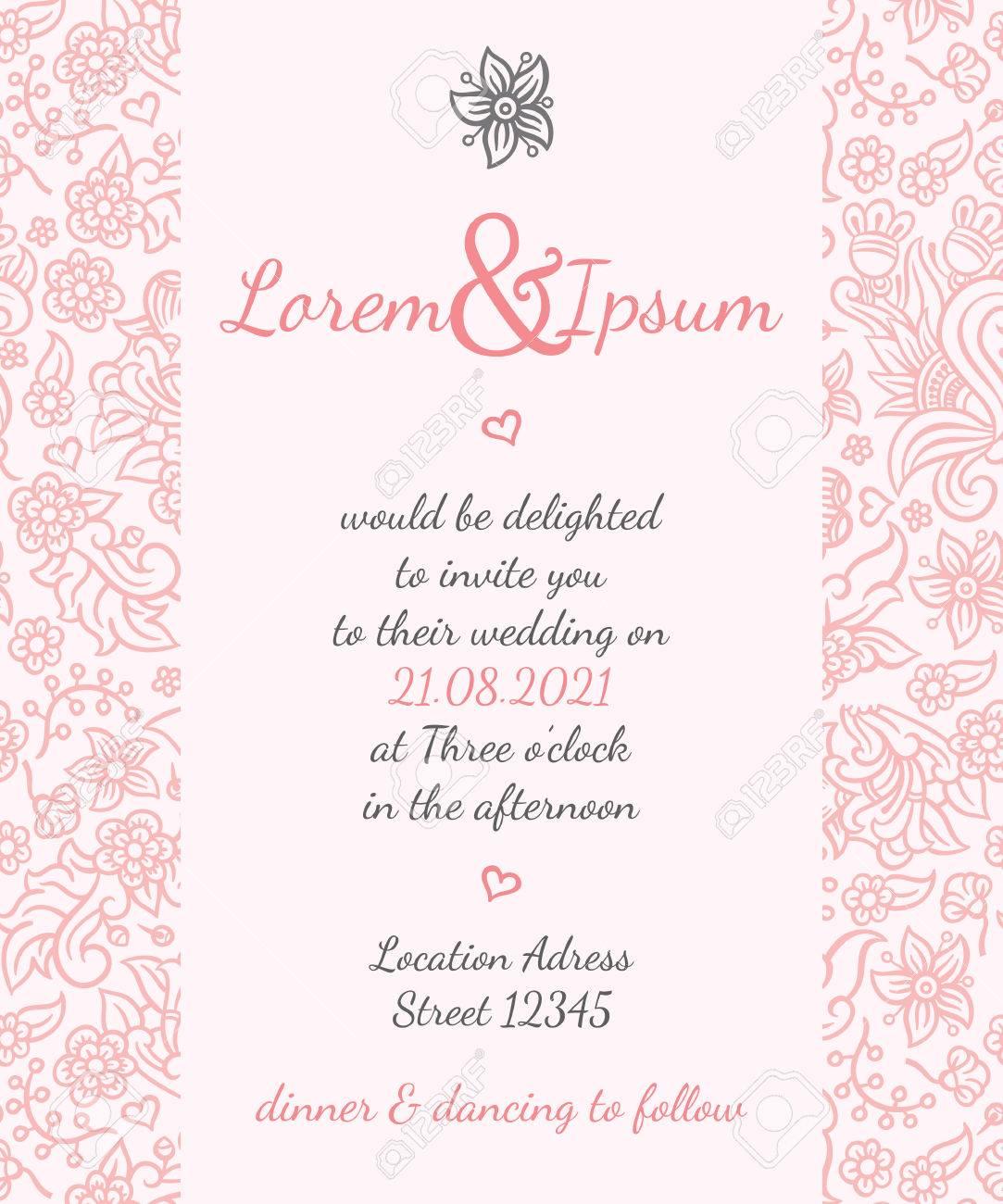 modele de vecteur de carte de mariage d invitation pour des invitations des depliants des cartes postales des cartes et ainsi de suite
