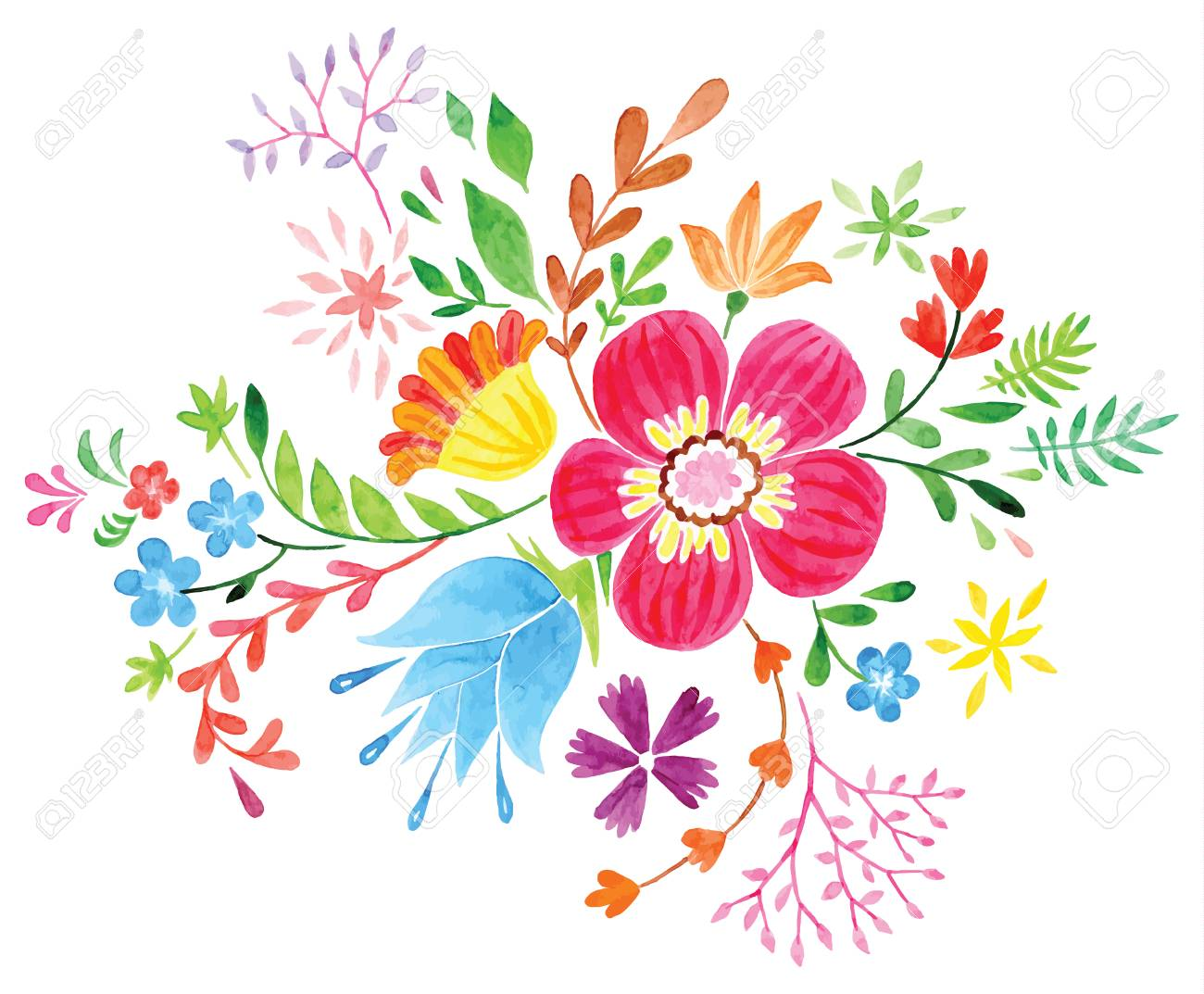 vector flowers colorful floral