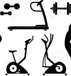 fitness gym equipment vector stock vector 9667612 [ 1300 x 635 Pixel ]