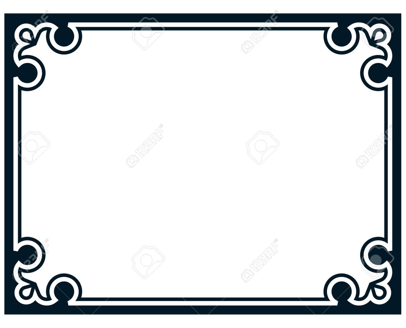 border frame line deco