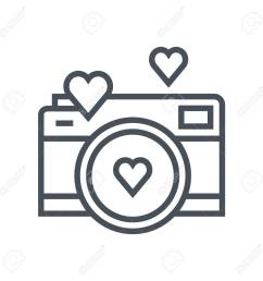 valentines day camera icon suitable for info graphics websites and print media vector  [ 1300 x 1300 Pixel ]