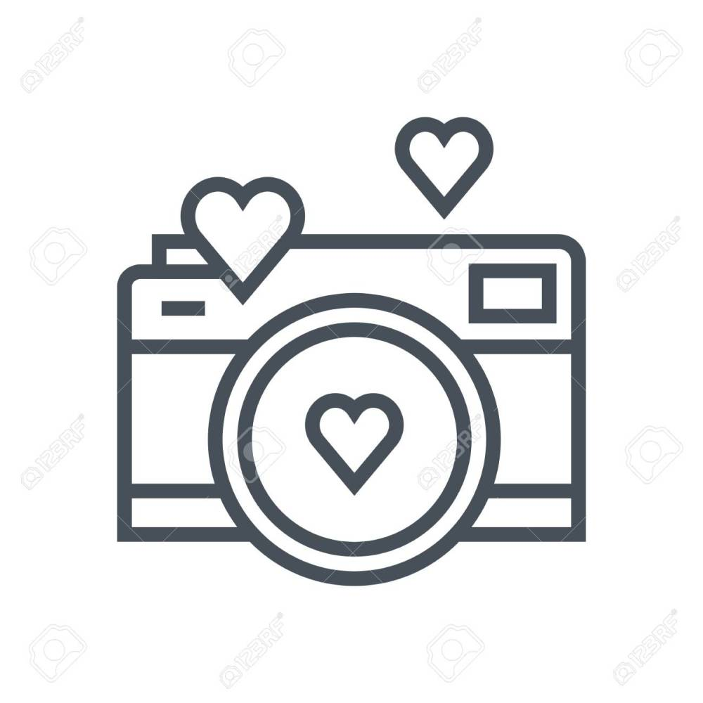 medium resolution of valentines day camera icon suitable for info graphics websites and print media vector