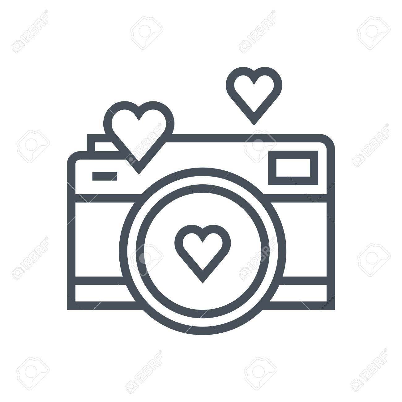 hight resolution of valentines day camera icon suitable for info graphics websites and print media vector