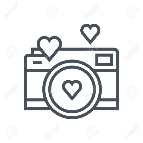 small resolution of valentines day camera icon suitable for info graphics websites and print media vector